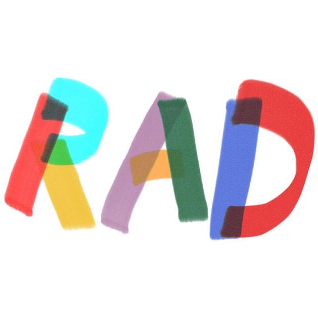 RAD 🤘🛹😎 #handlettering #illustration