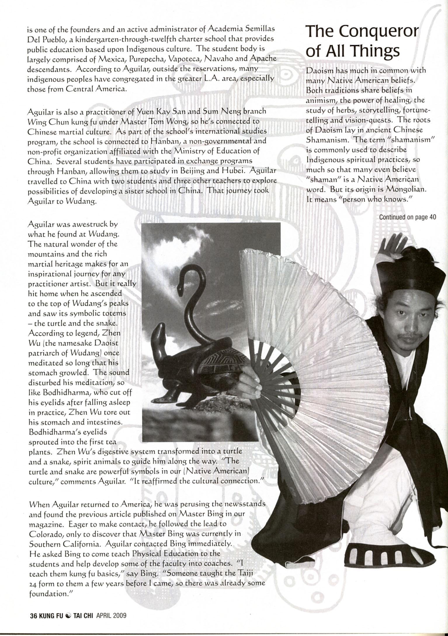 Master Bing on Kung Fu Magazine 07