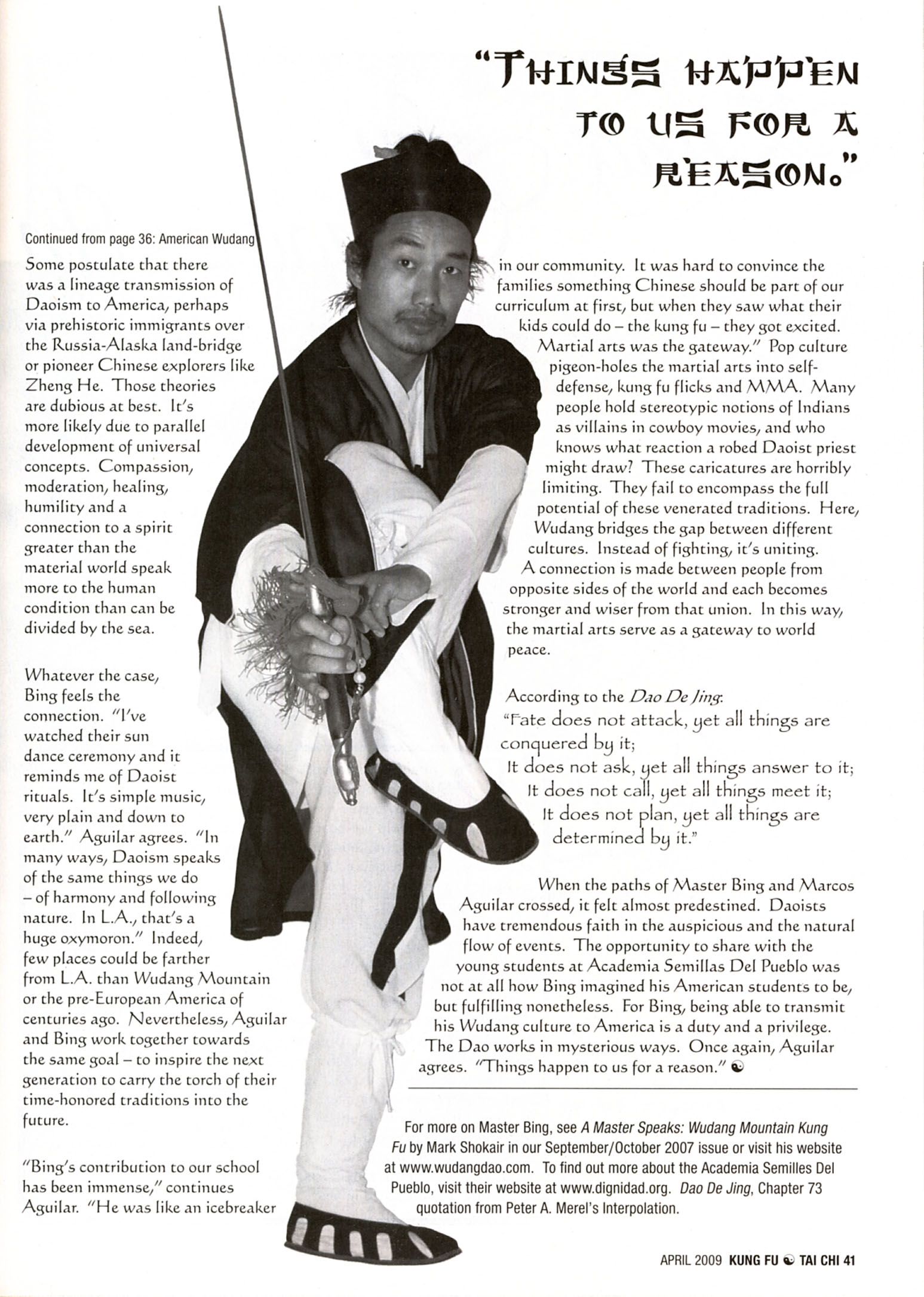 Master Bing on Kung Fu Magazine 09