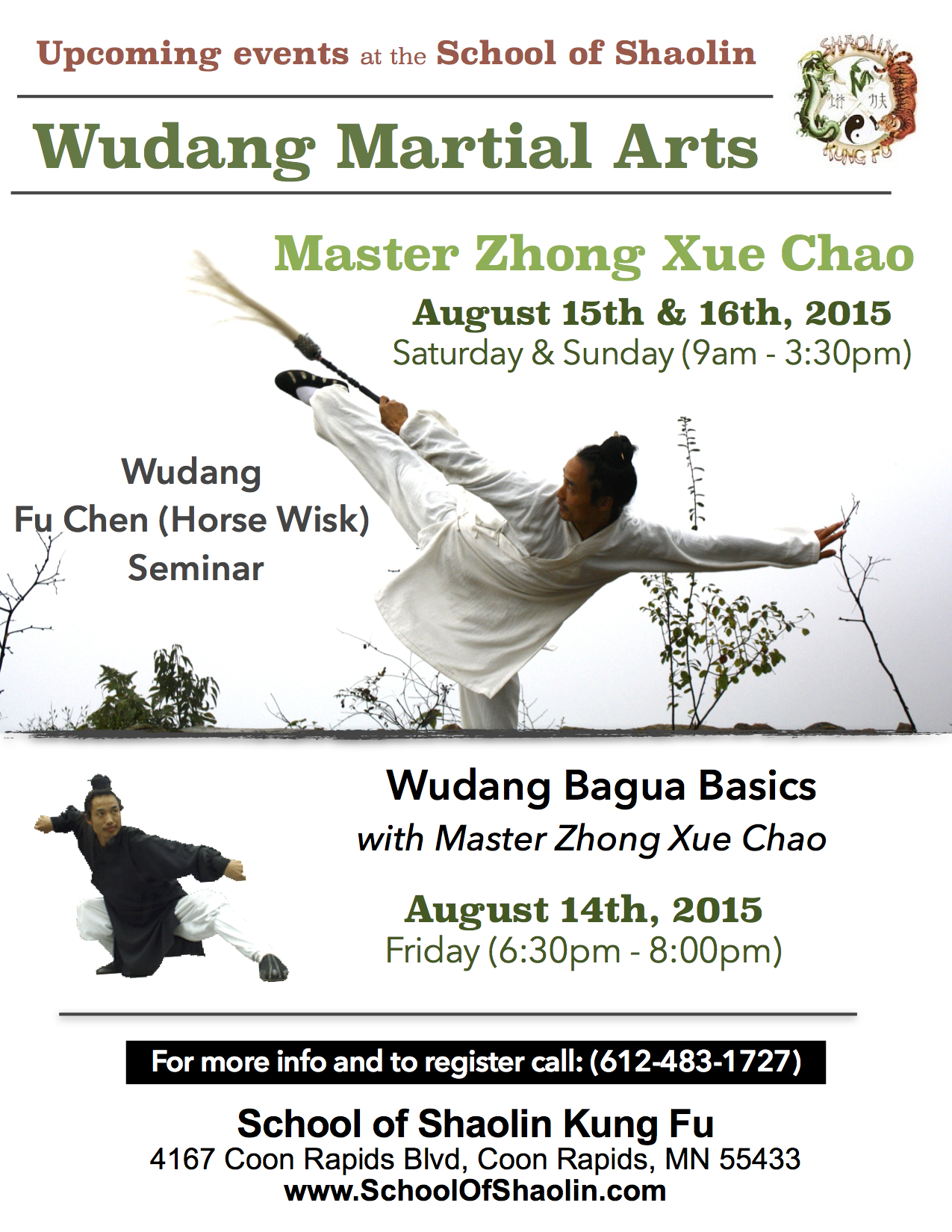 Wudang Fu Chen, taoist whisk, with master Bing