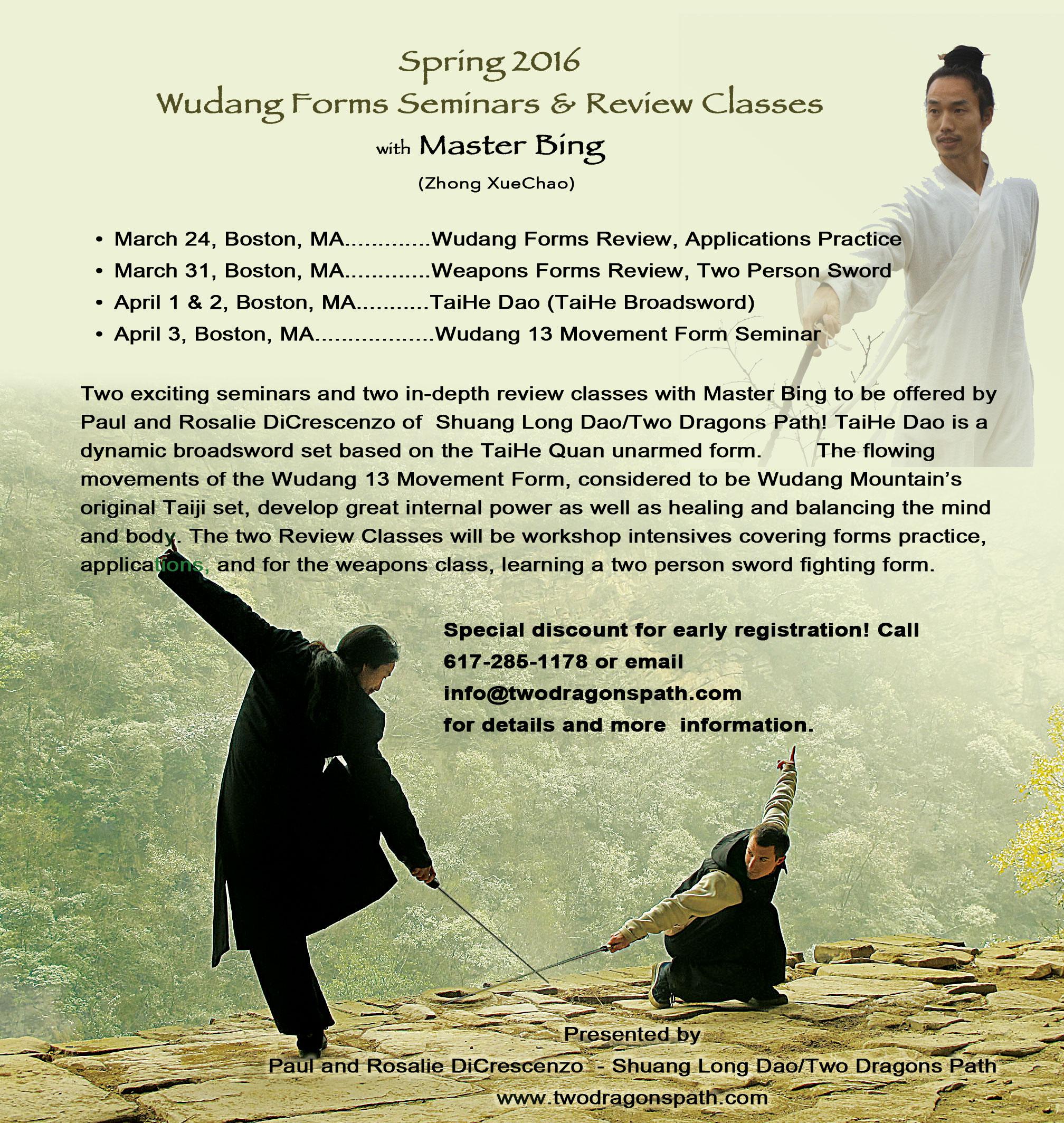 Wudang Seminar with Master Bing
