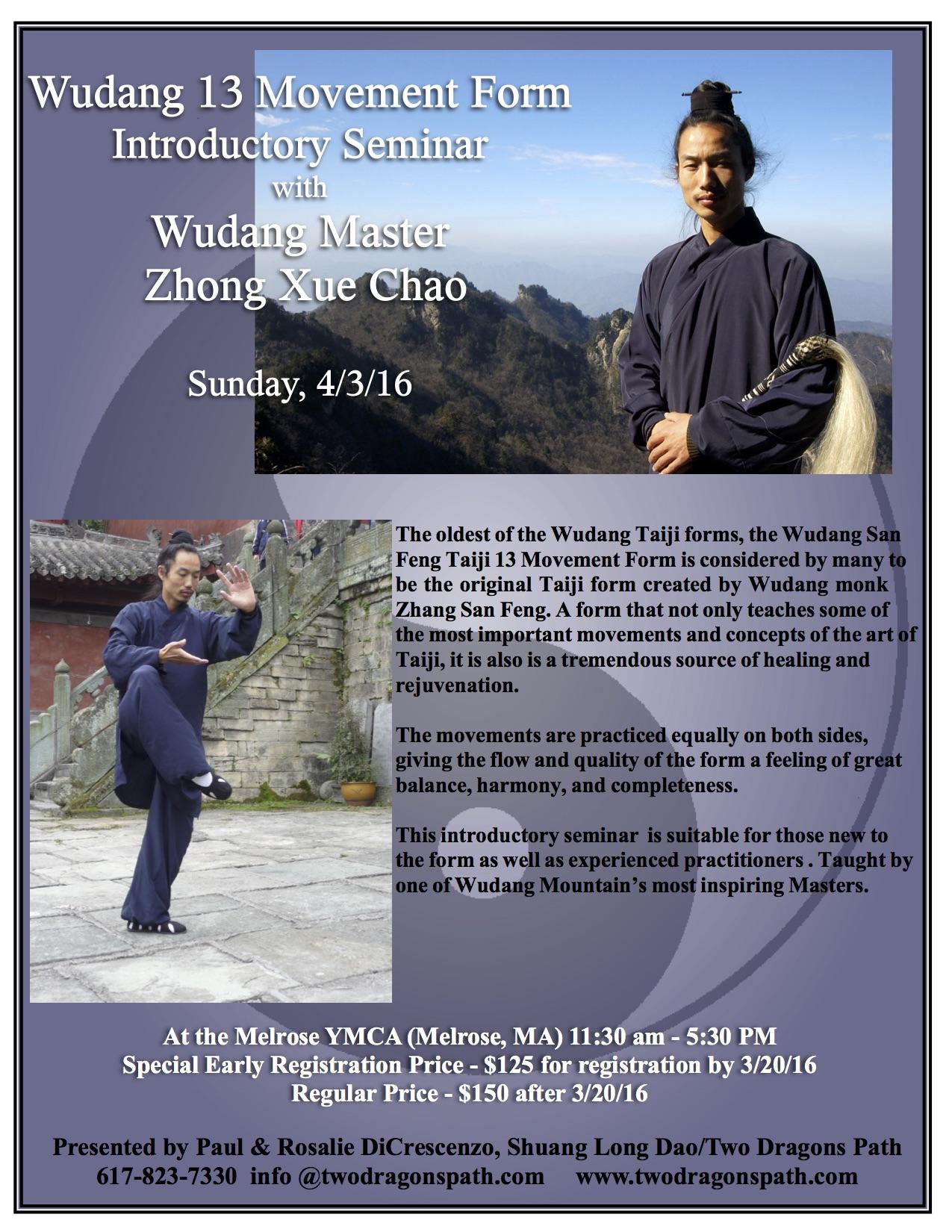 Wudang tai Chi 13 movement form