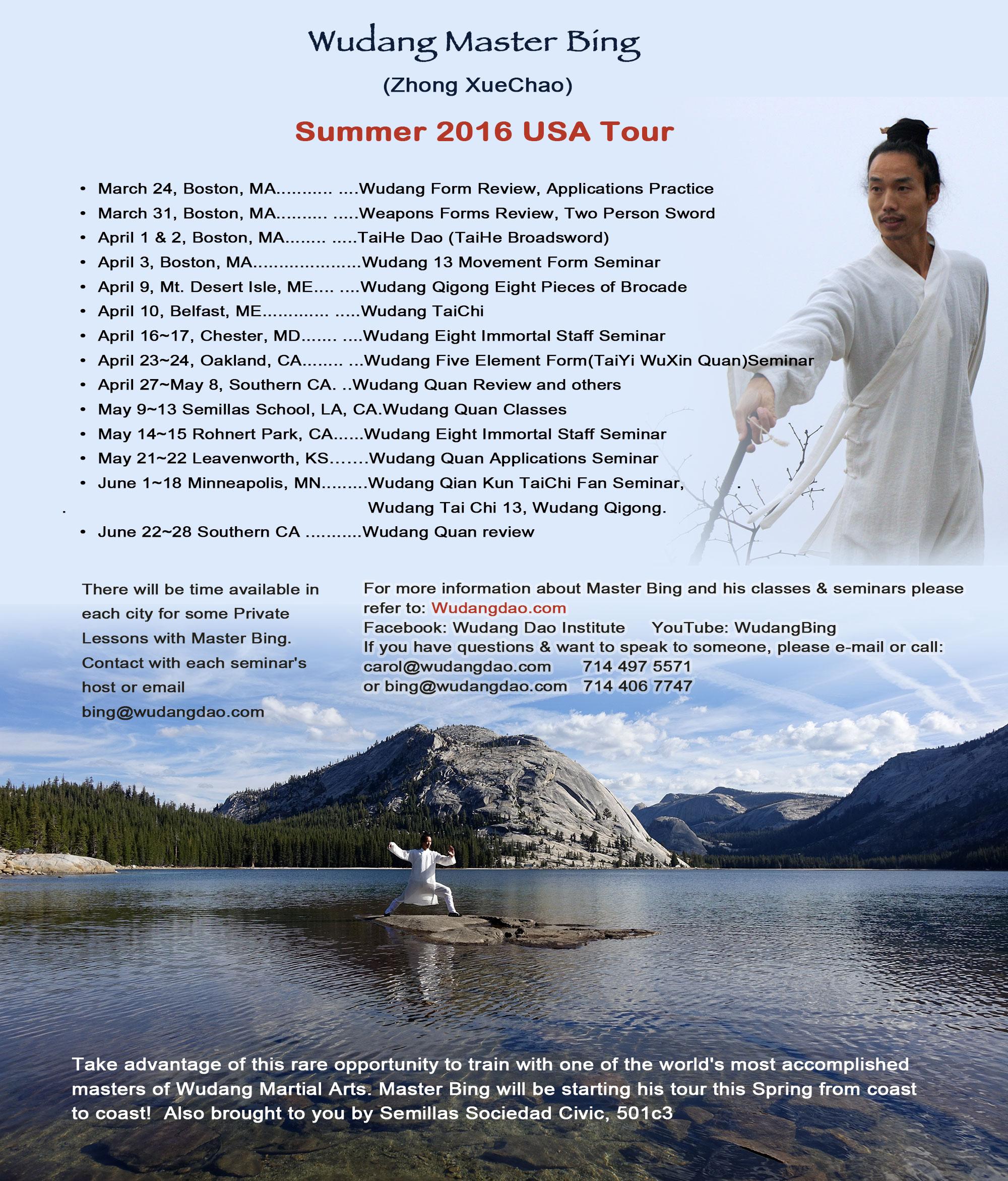Wudang Master Bing USA tour