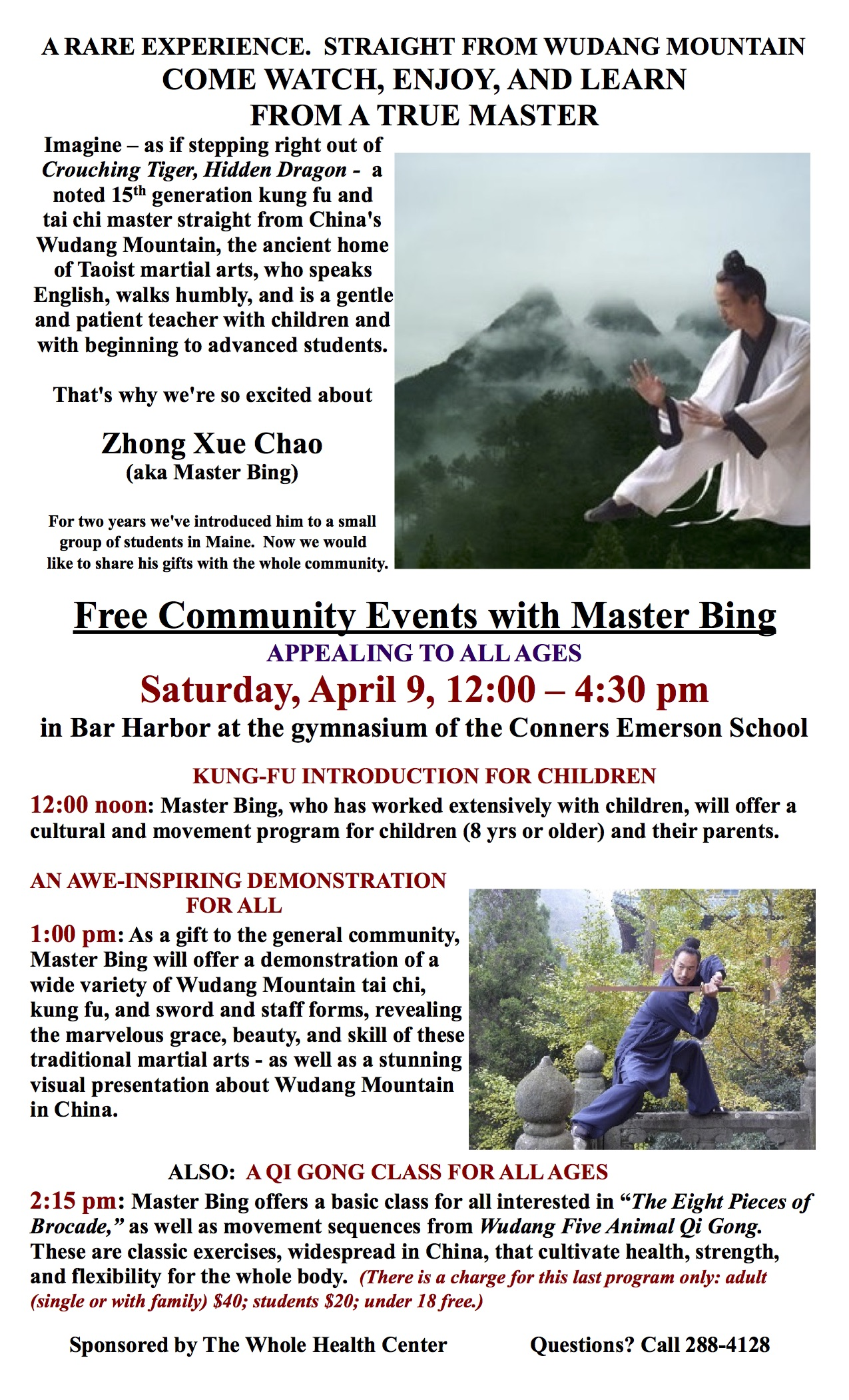 Wudang workshops