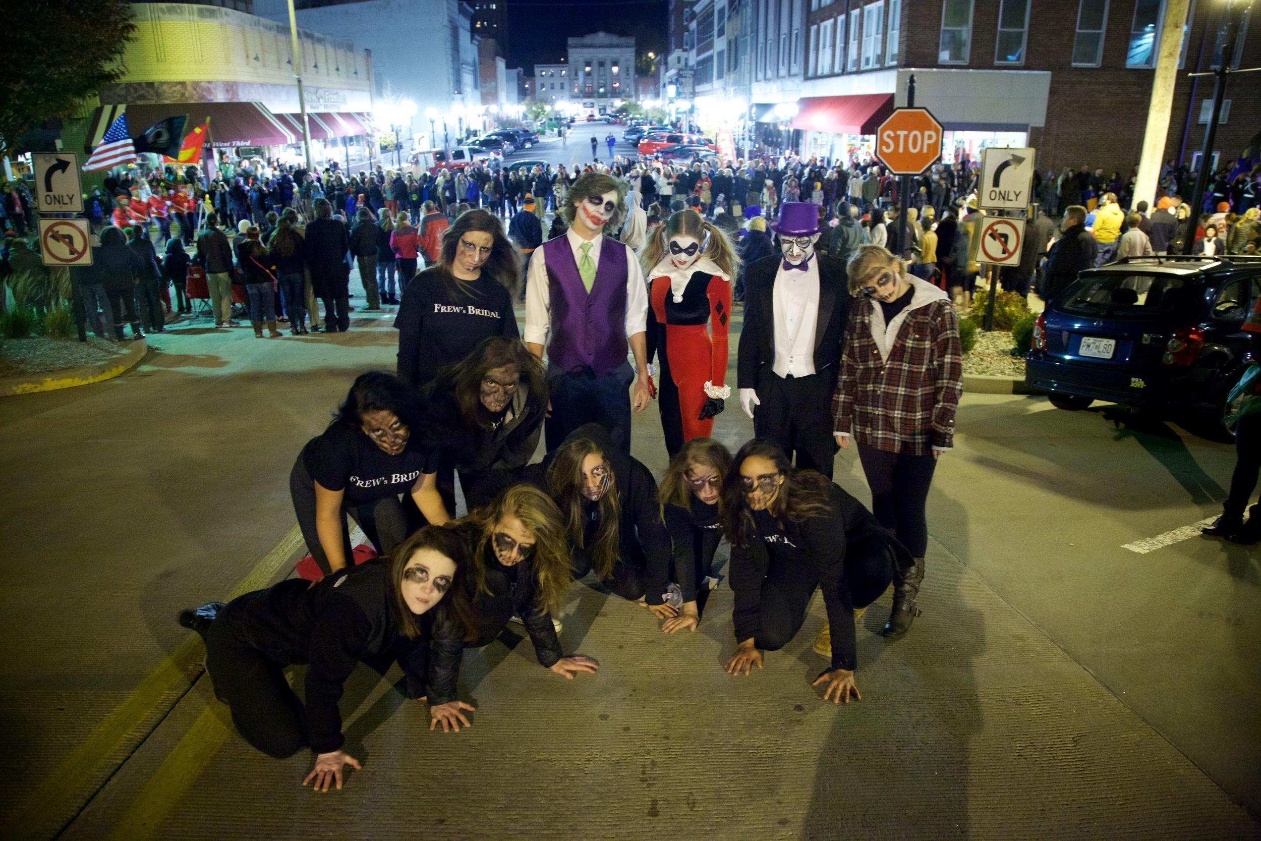 Several of the mannequins/dancers Jason Wissman is the Joker