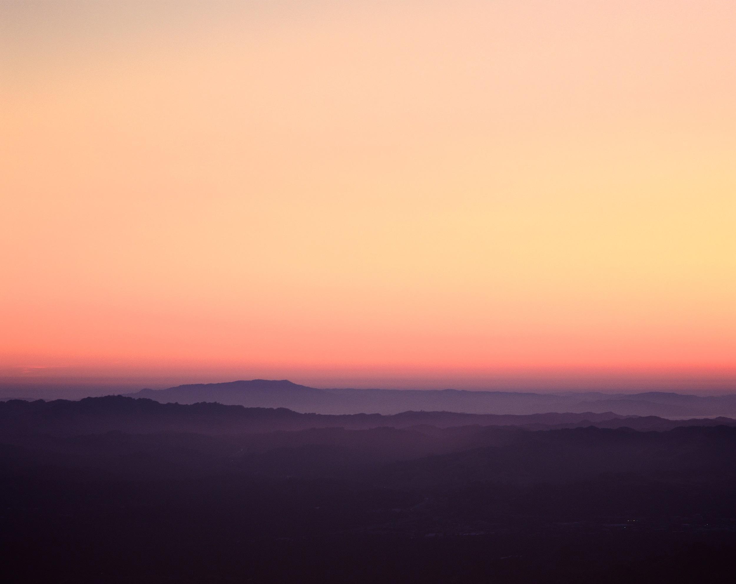 Dusk over Mt Tamalpais