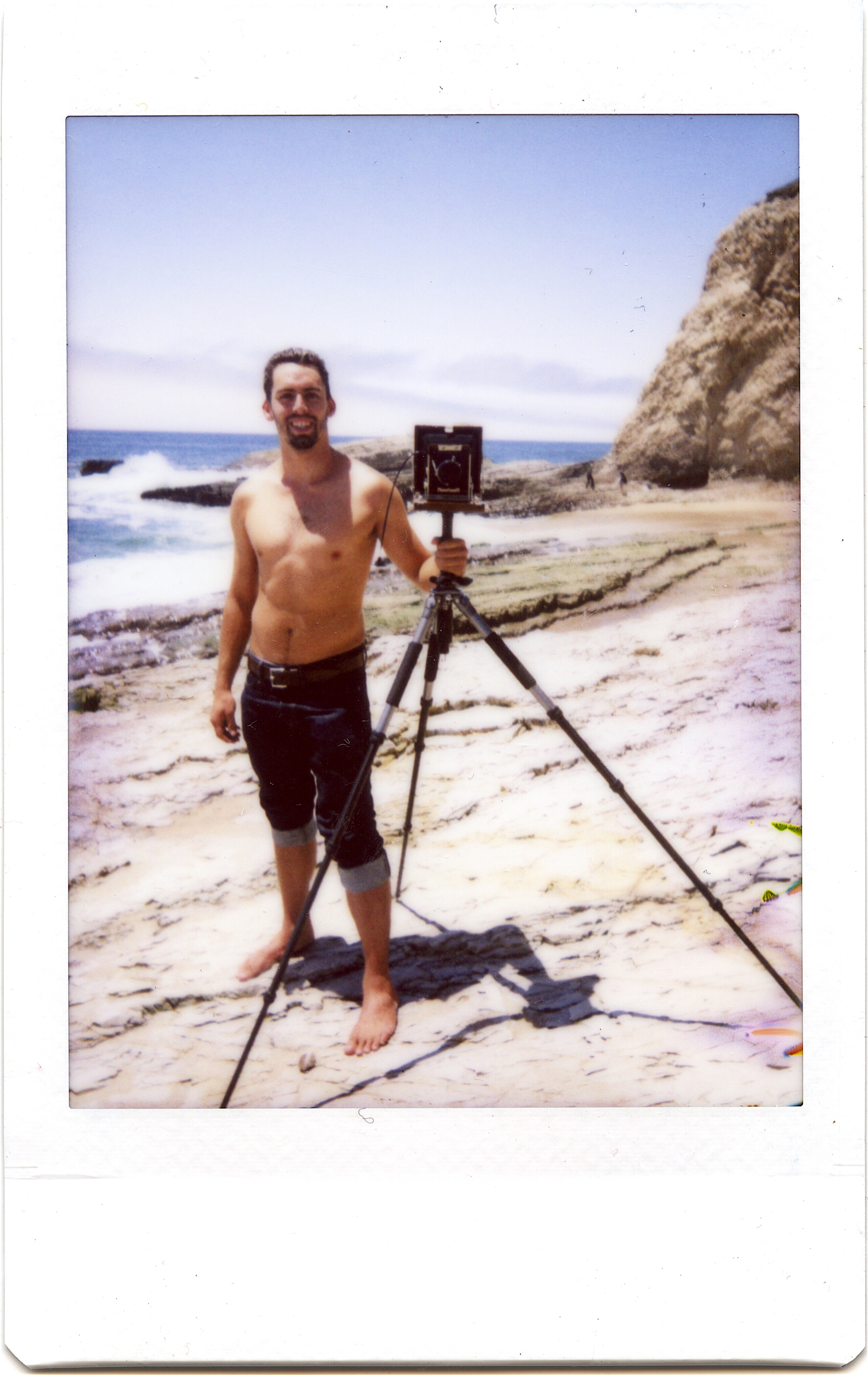 A Instant photo of me from 1967, posing with my new Nagaoka 4x5 at Panther Beach. Photo credit to my buddy Nick