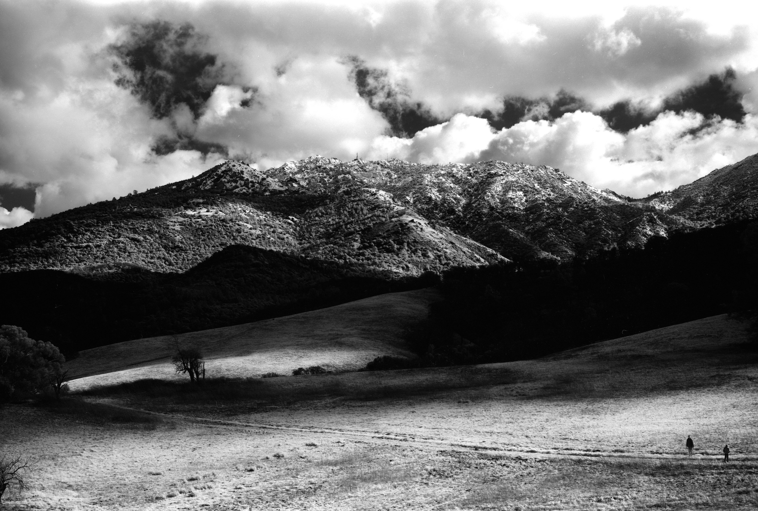 Clearing Winter Storm over Mt Diablo, February 2011 Graflex 2x3 Speed Graphic, 105mm, Rollei IR 400