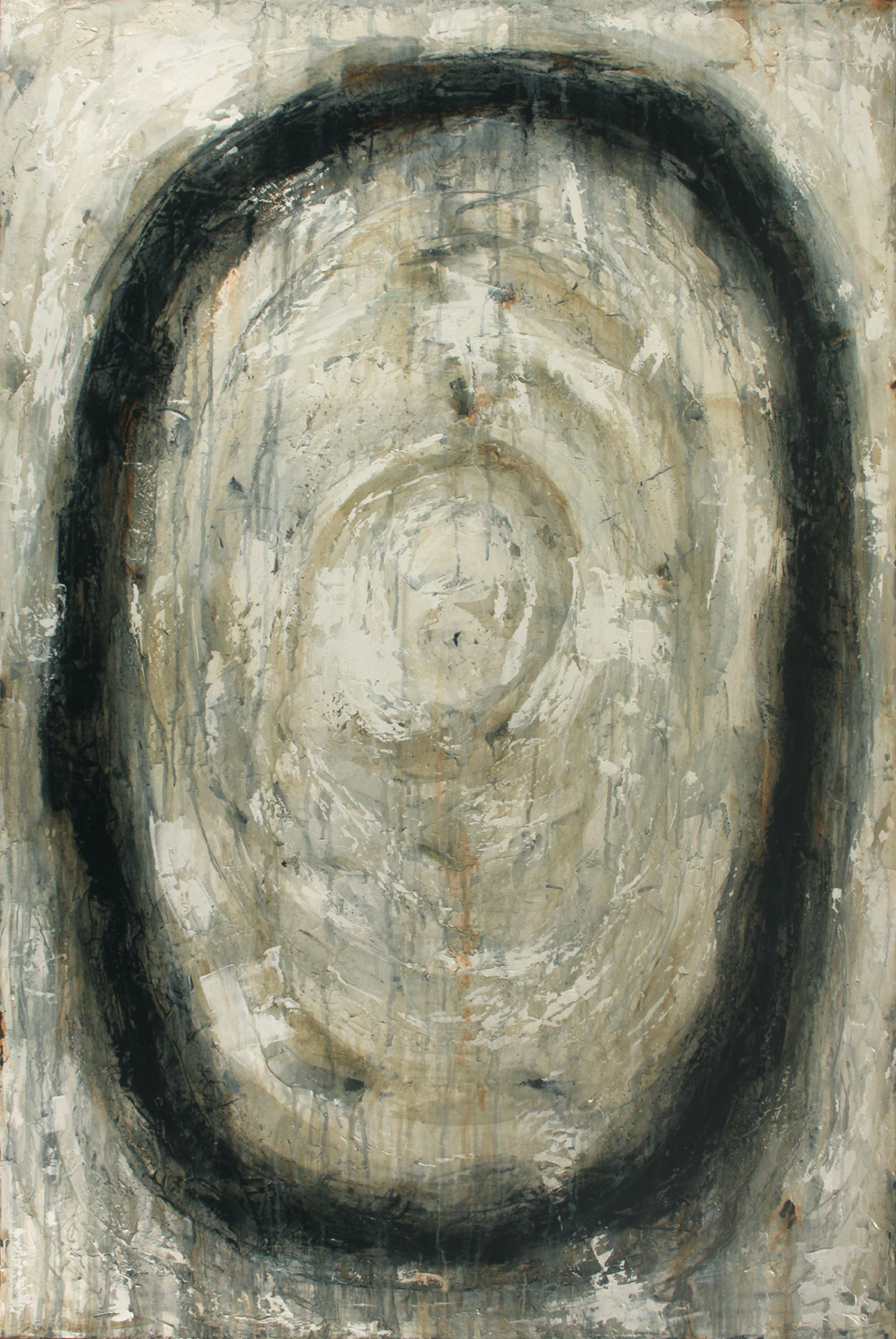 "Payne's Grey  Oil and Acrylics on Canvas 40""x60"", 2012"