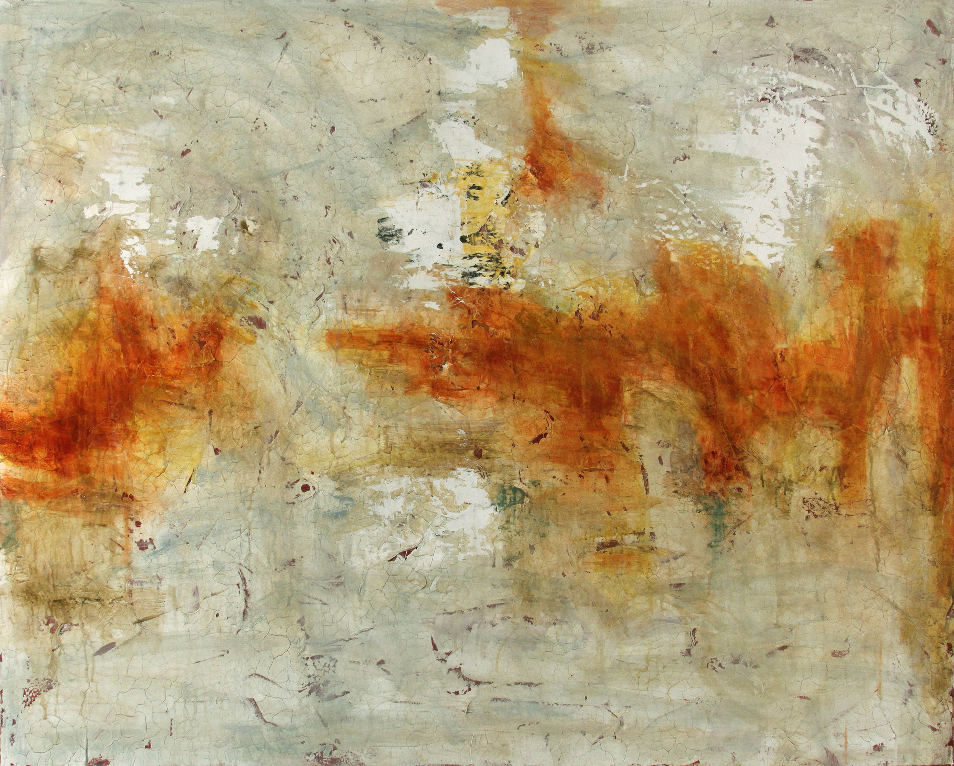 "Drifting Deeper Into the Sun  40""x50"", 2009 Oil and Acrylics on Canvas"