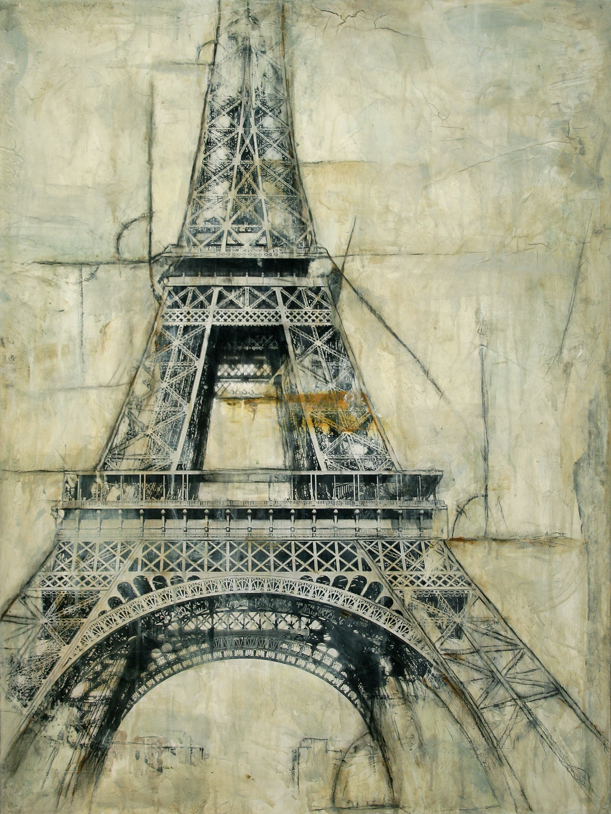 "Eiffel Tower  Mixed Media on Canvas 30""x40"", 2009 Private collection"