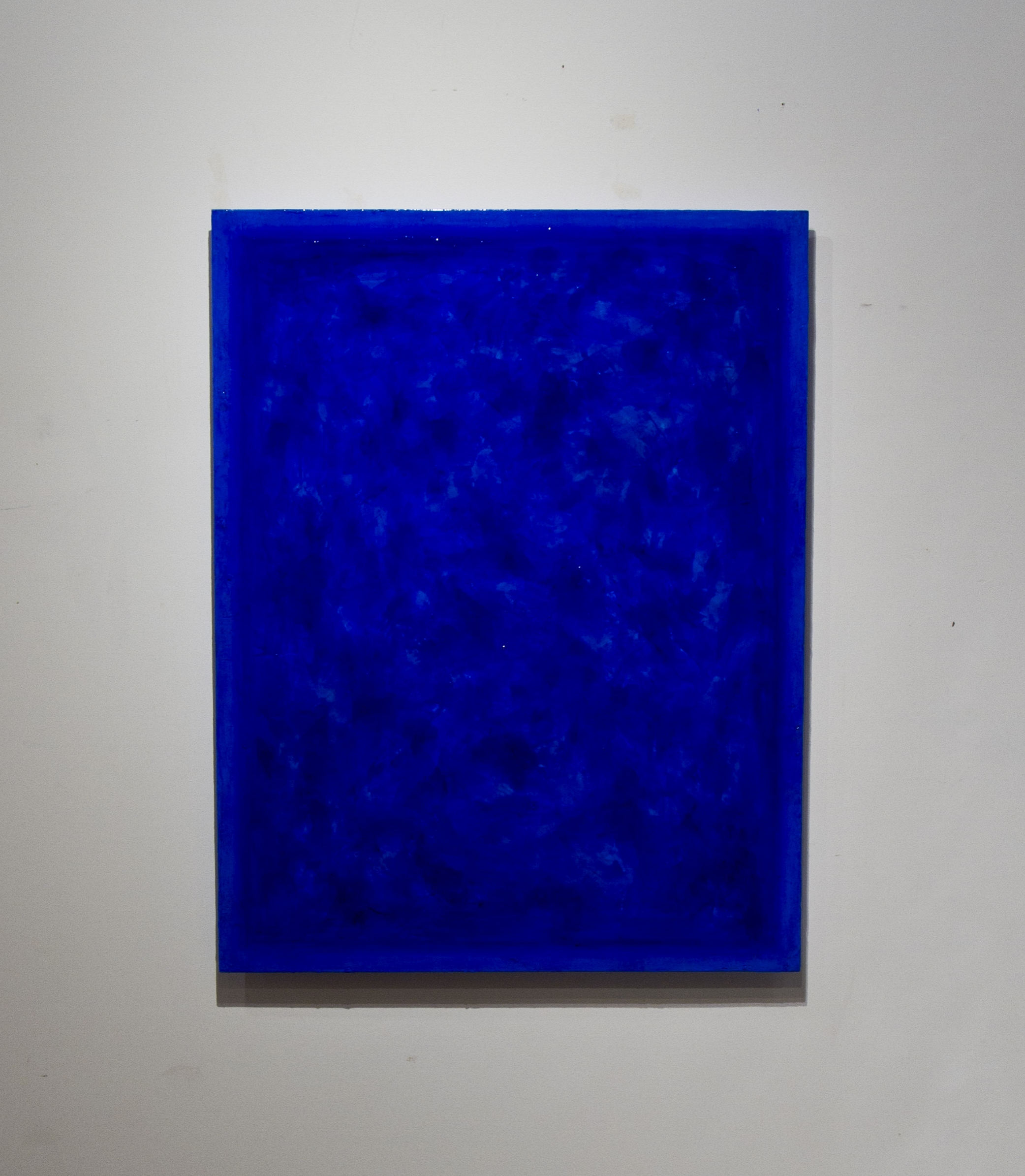 "International Klein Blue commission,  2015 Oil, Pigment and Polymer on Canvas 35""x45"" Corporate Installation"