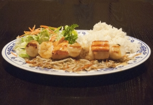Broiled Seafood Kabob