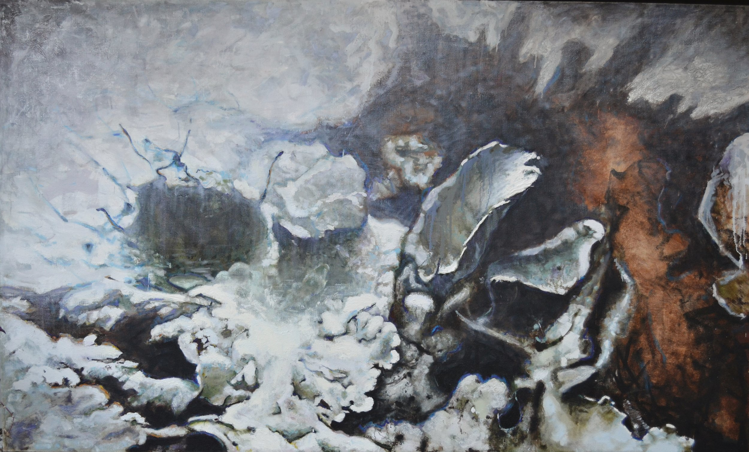 "Lichen V,   72"" x 120"", Oil on hemp"