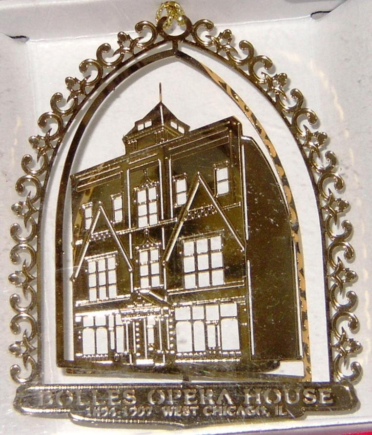 """2002- Bolles Opera House  (Out of Stock)    Built in 1894 by Charles E. Bolles, the Bolles Opera House was made of local Turner Brick. The three-story structure hosted musicals, dances, vaudeville shows and concerts. Despite its name, the only opera performed here was """"Irma,"""" written by local composer John West. The building was bought in 1941 by Lindsay Light and Chemical Company and used for storage and laboratories. In 1997 the building was demolished."""