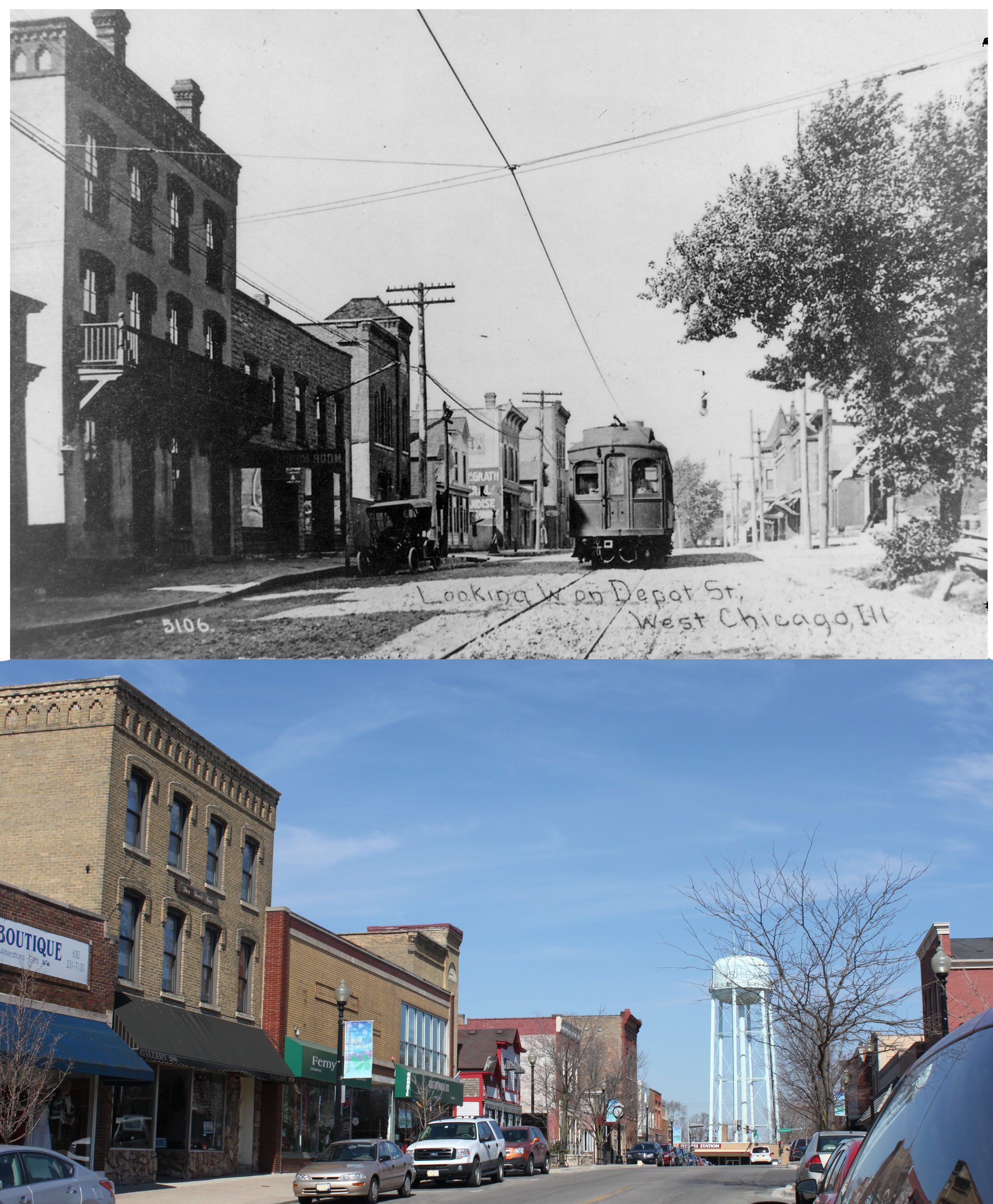 Main Street of yesteryear and today