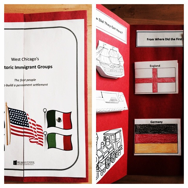 Family Late Night participants will make a fun flip-the-flap portfolio about West Chicago's founding immigrant groups.