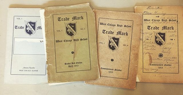 Part of tonight's #latenight at City Museum - publications by students of #westchicago High School, 1915.