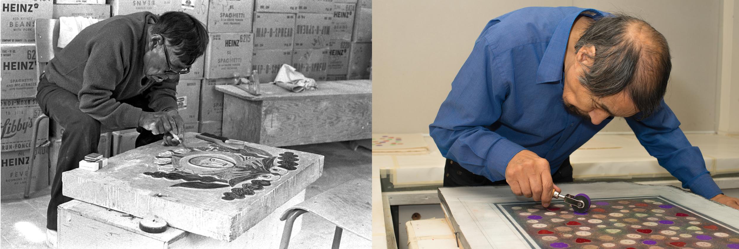 Left to Right: Timothy Ottochie 1975 © Tessa MacIntosh, Qiatsuq Niviaqsi 2013 © William Ritchie