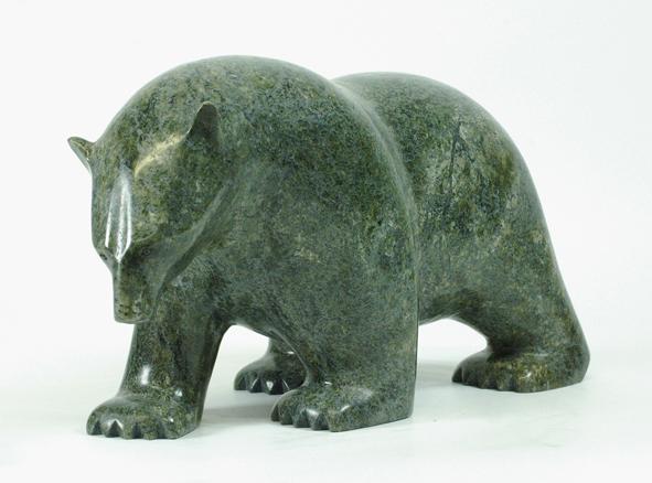 6824I   ASHEVAK ADLA  Bear, 2014  Serpentine  H8.5 x W16 x D6.5 in