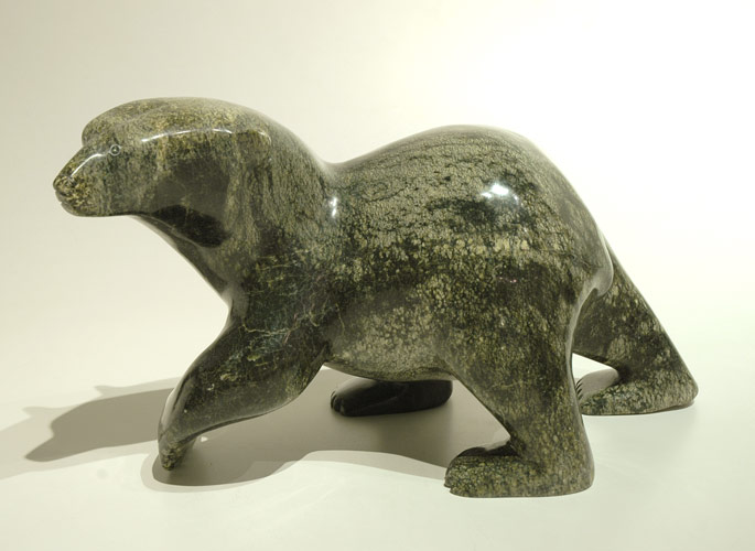 NUNA PARR  PROWING BEAR, 2014  Serpentine  H9 x W15 x D7.5 in