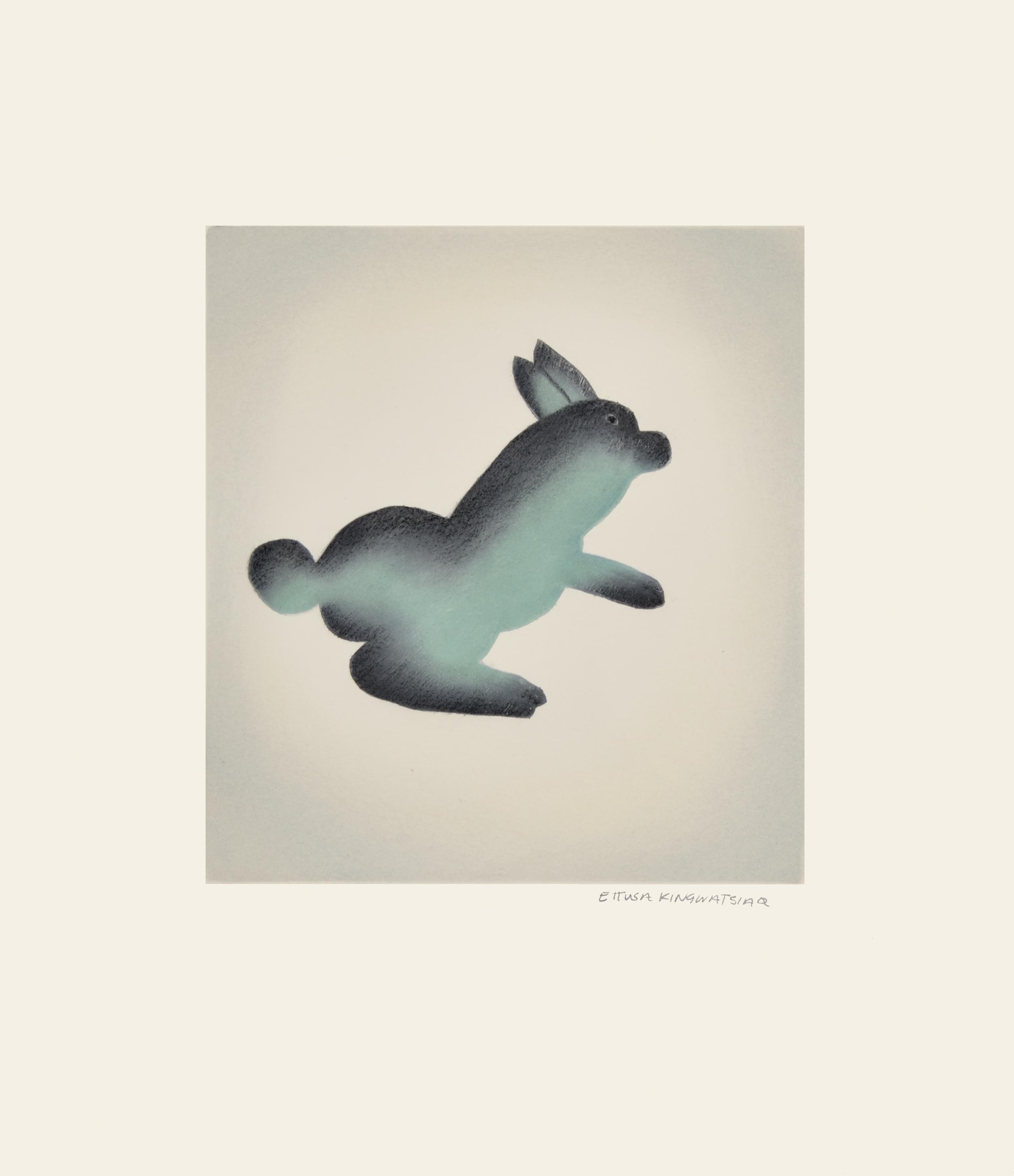 ETTUSA KINGWATSIAQ 15-29. HOP Etching & Aquatint Paper: Arches White Printer: Studio PM 44.5 x 38 cm