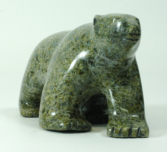 "OhitoAshoona 6536J  Bear, 2015       Serpentinite   h 4.5"" w 8"" d 3.5"""