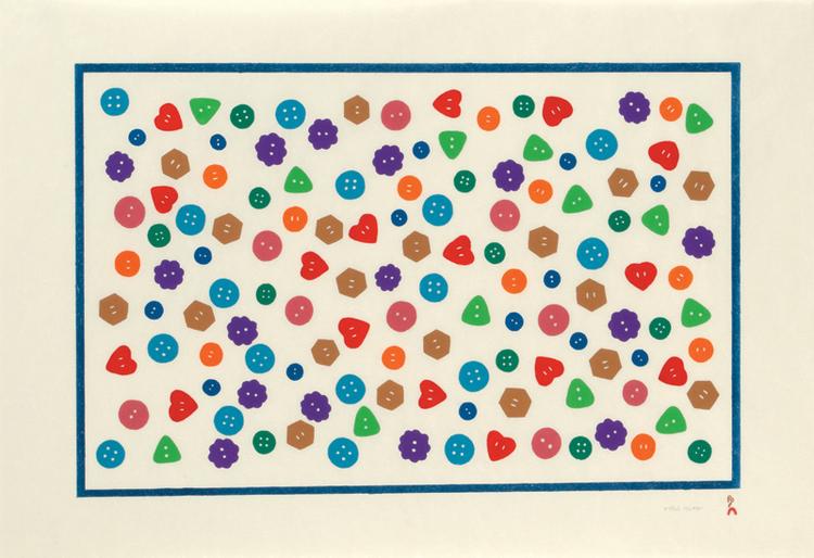 POLISHED BUTTONS, 2013 Stonecut  53.5 x 76.3 cm $600 CDN