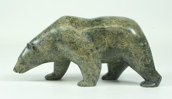 """8139G Bear,2013   Noah Jaw    ht 4.5"""" wdth 9.5"""" dpth 3""""  Serpentinite"""