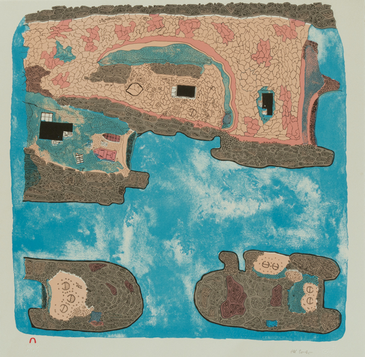 Siassie Kenneally  SATIRITTUQ  Lithograph 2007 56.5 x 57.2 cm $500.00 CDN Released in the 2013 collection Dorset ID#: 13-29