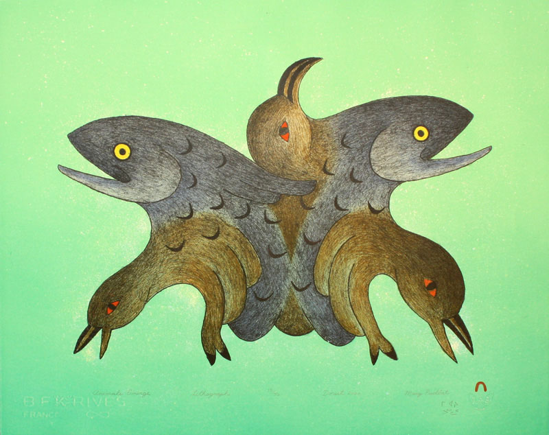 Mary Pudlat  ANIMALS EMERGE Lithograph 2000 40.7 x 50.7 cm $400.00 CDN Released in the 2000 Spring collection Dorset ID#: 2000-S09