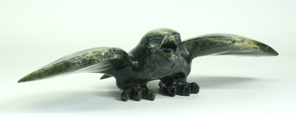 Timila Pitseolak  7460G Eagle, 2013  Serpentinite h 4 x w 18 x d 7.5 in