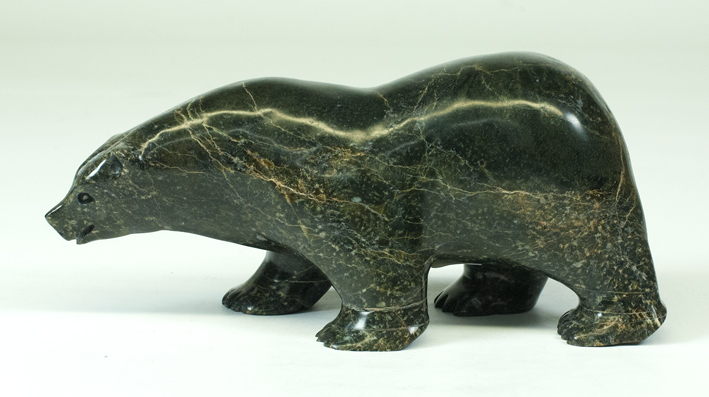 "8094L Bear, 2018 Serpentinite H 3.5""  W 7""  D 3"""
