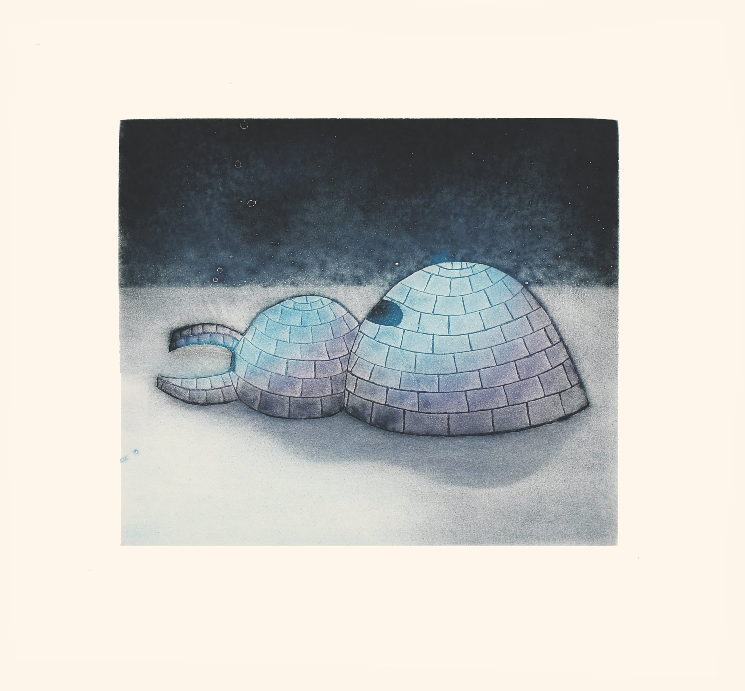 SITA SAILA  25. Igluvigaq (A Place You Live)  Etching & Aquatint  Paper: Arches White  Printer: Studio PM  44.7 x 48 cm  $ 600
