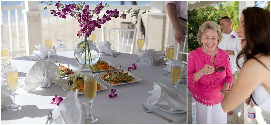 The resort held a very cute little reception for everyone involved.