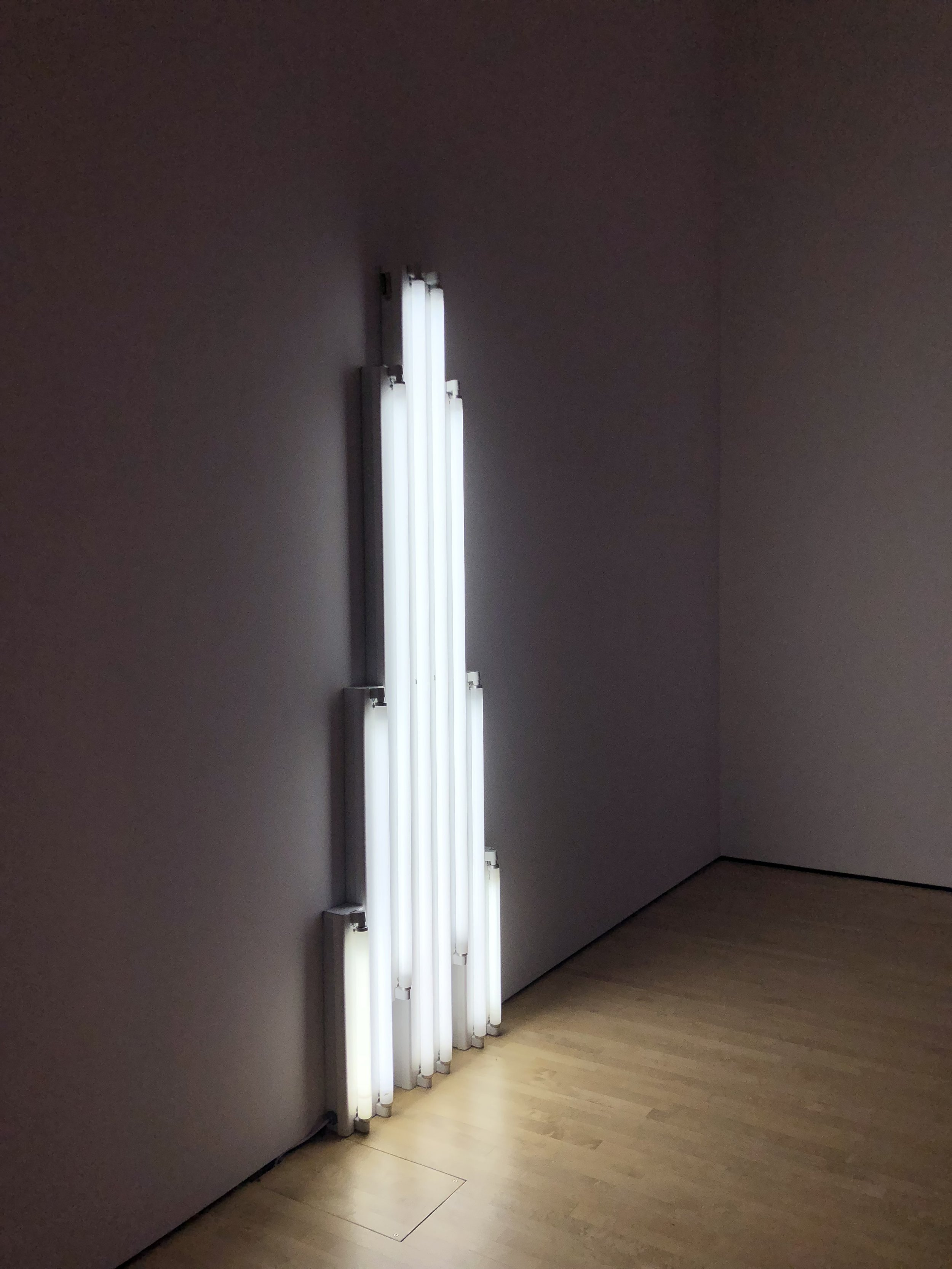 my first time seeing a dan flavin in person!