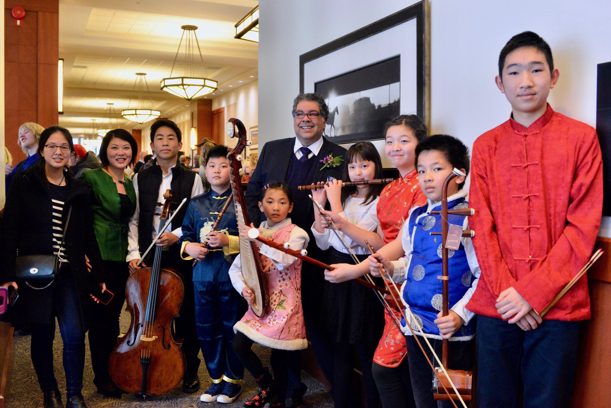 Calgary's mayor Naheed Nenshi enjoyed the performance