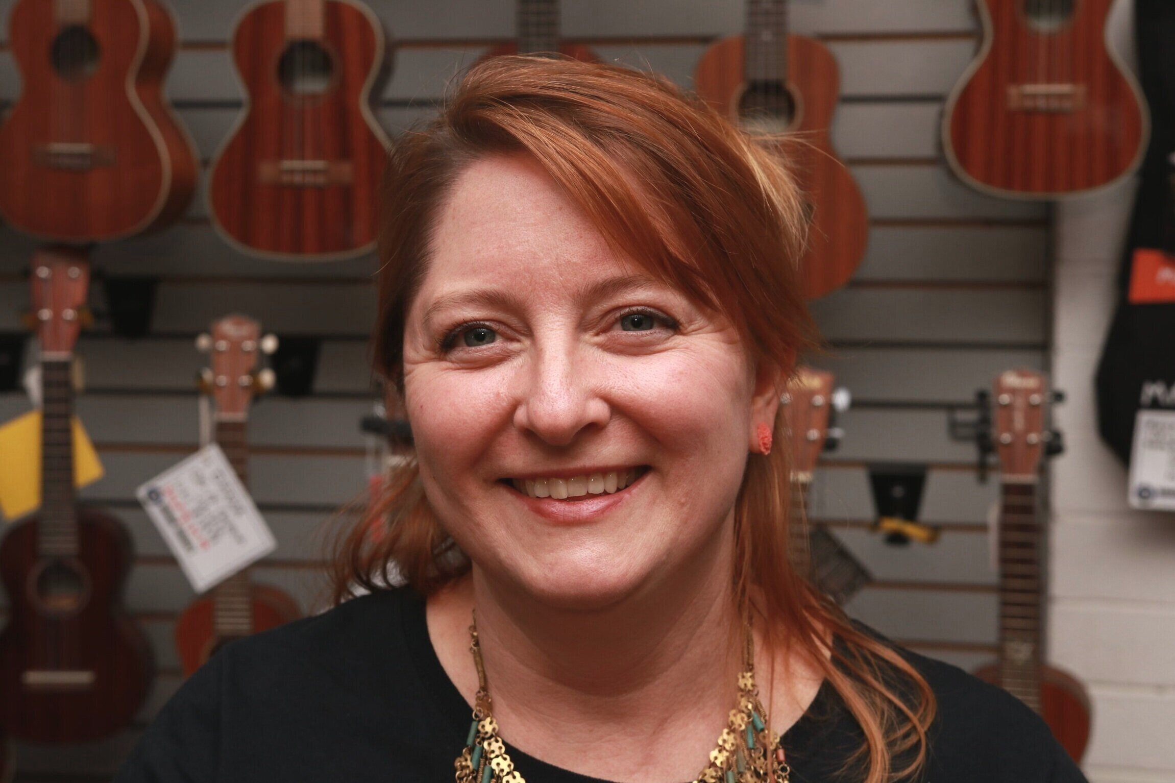 TIFFANY  Tiffany was born and raised in Virginia, in the Shenandoah Valley. In addition to her organizational prowess here at Rockin' Robbie's, Tiffany is also a skilled artist specializing in upcycled materials. She also founded two businesses, Tiff's & Cheryl's Crate Escape dog walking service and The Art of Cataloging. Tiffany has worked in the sales and merchandising world for more than a decade. In her off-time, she enjoys beachcombing, photography, hiking, camping, road trips, and stargazing. Stop by and say hi, Tiffany is happy to help.