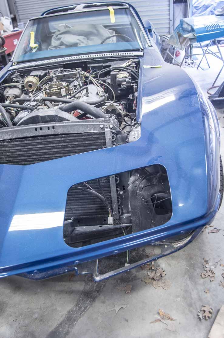 1968 Corvette going back together