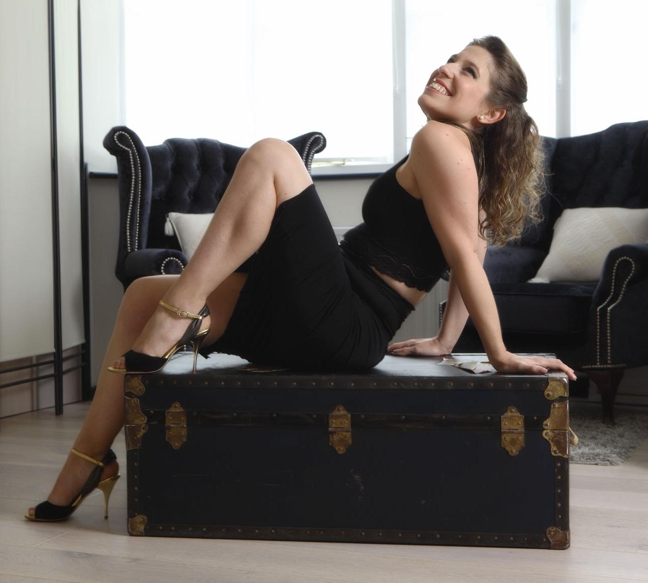 Stefania Colina wearing Yuyo Brujo shoes (Al Verla Pasar) - click to shop