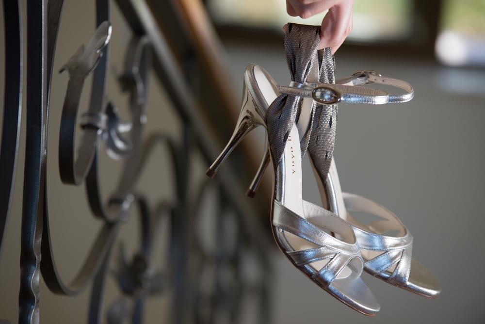 Elegant silver tango shoes for ladies