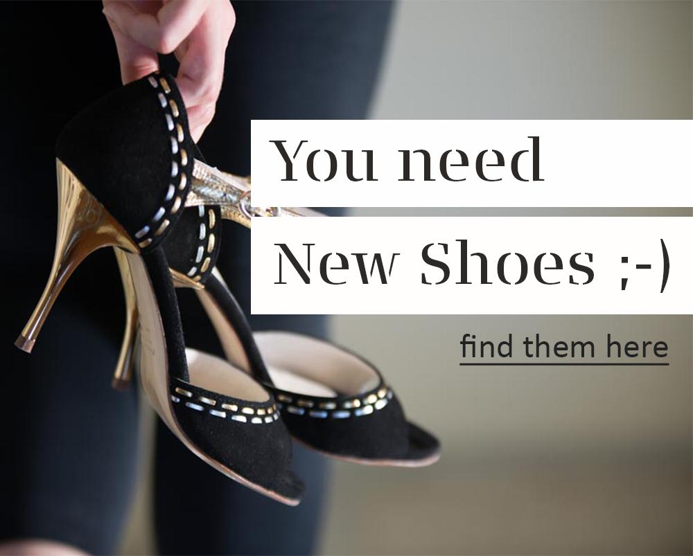 Cordon de Oro black suede tango shoes