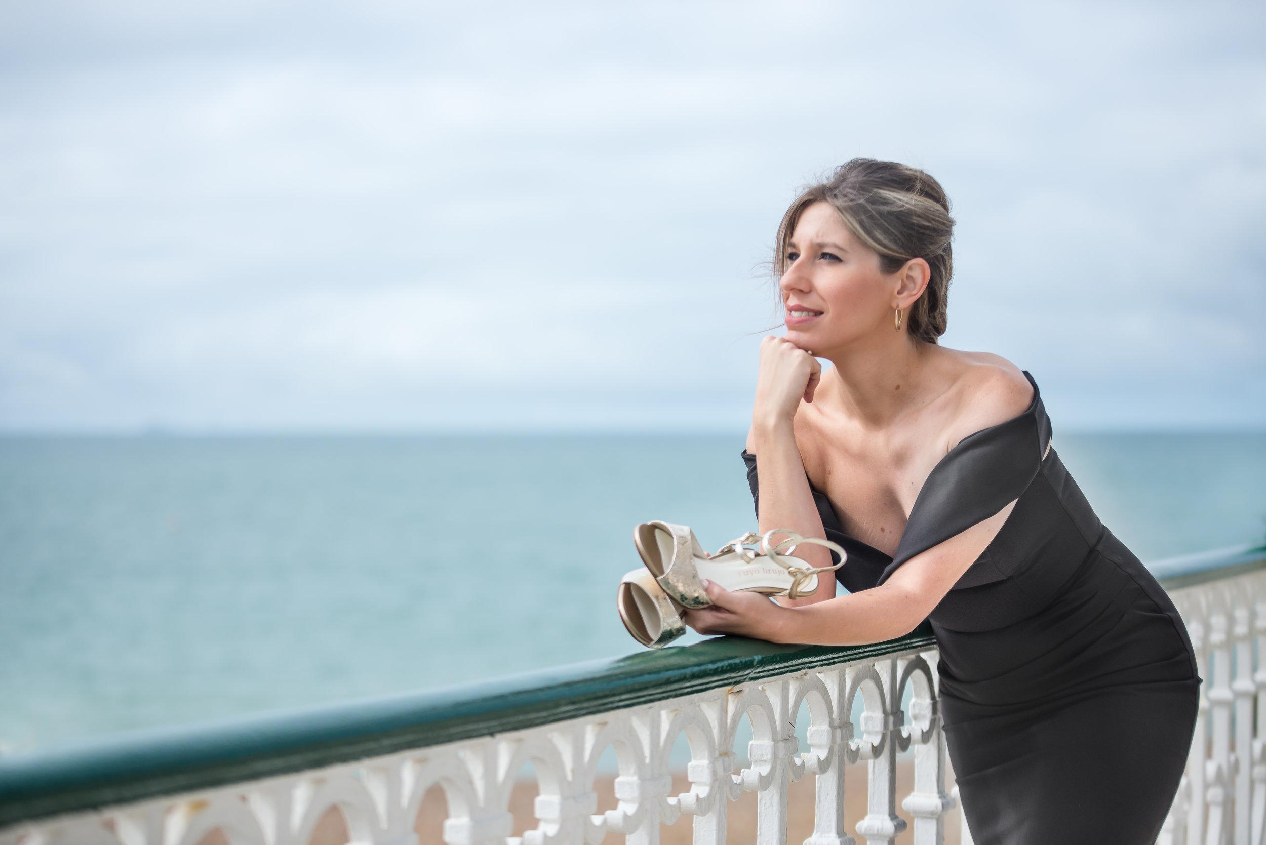 Stefania watching the sea