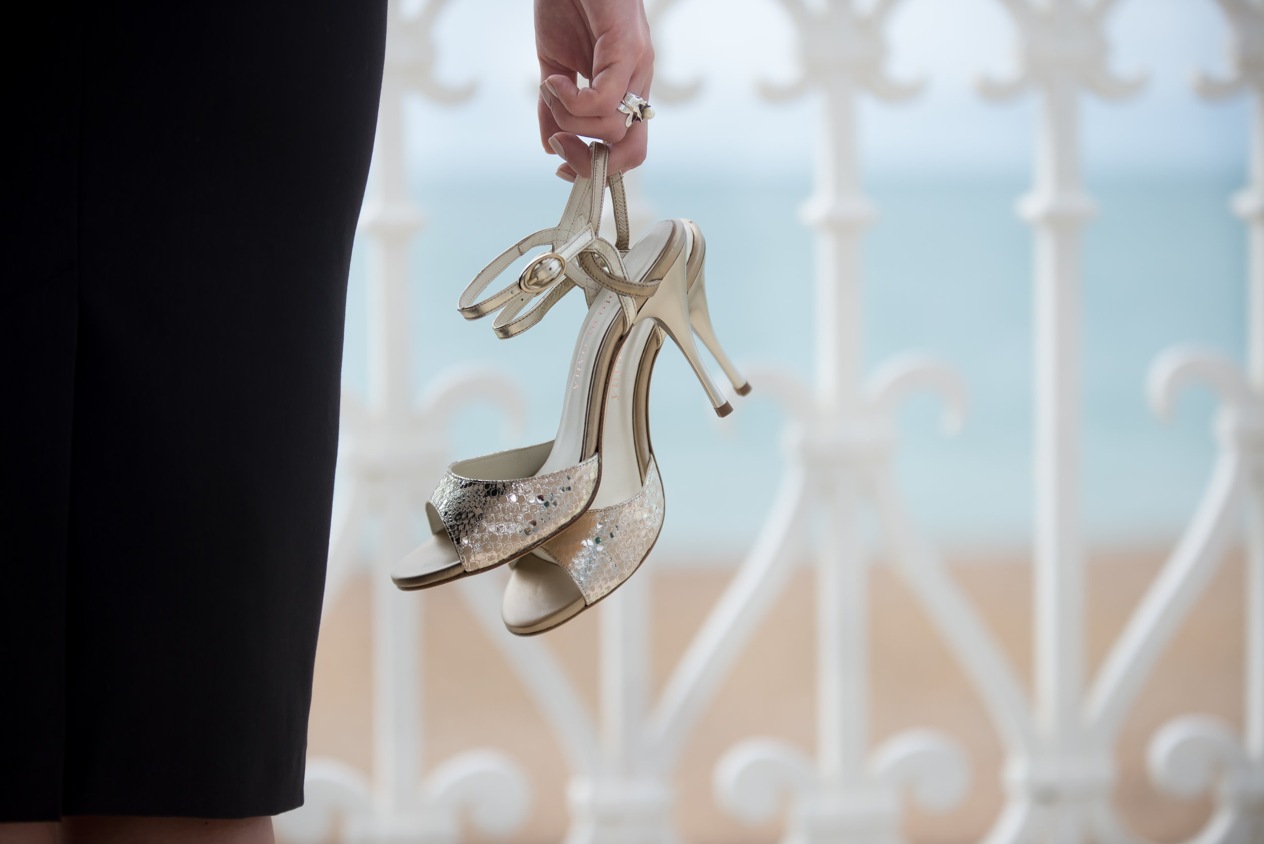 Tango shoes in Stefania's hand