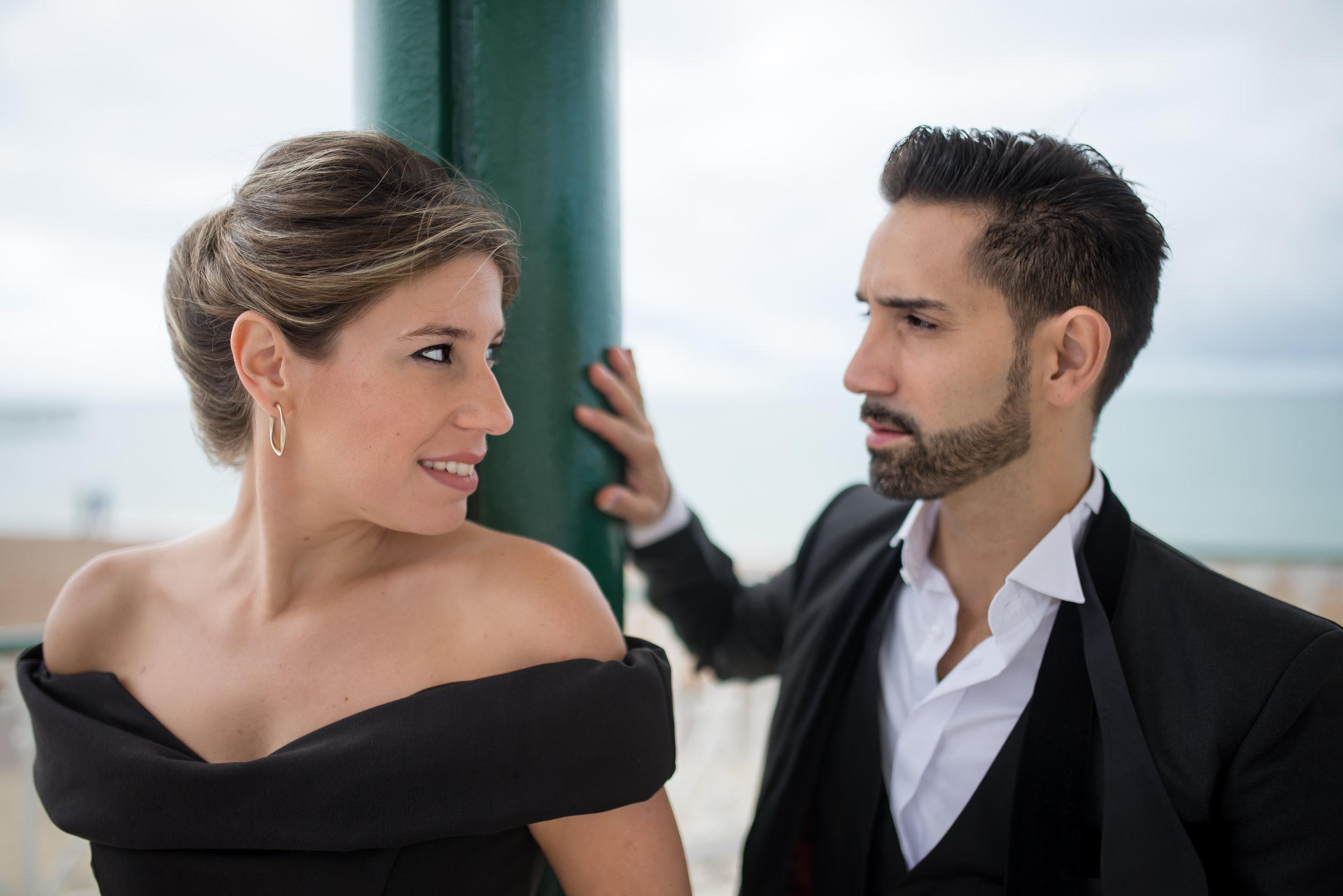 Stefania and Juan talking
