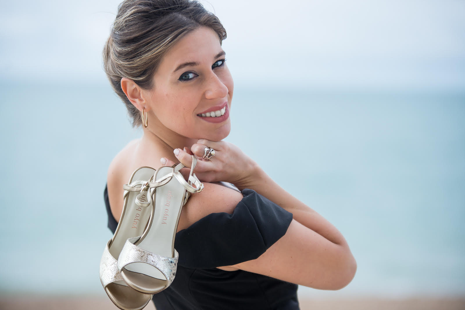 Stefania holding tango shoes