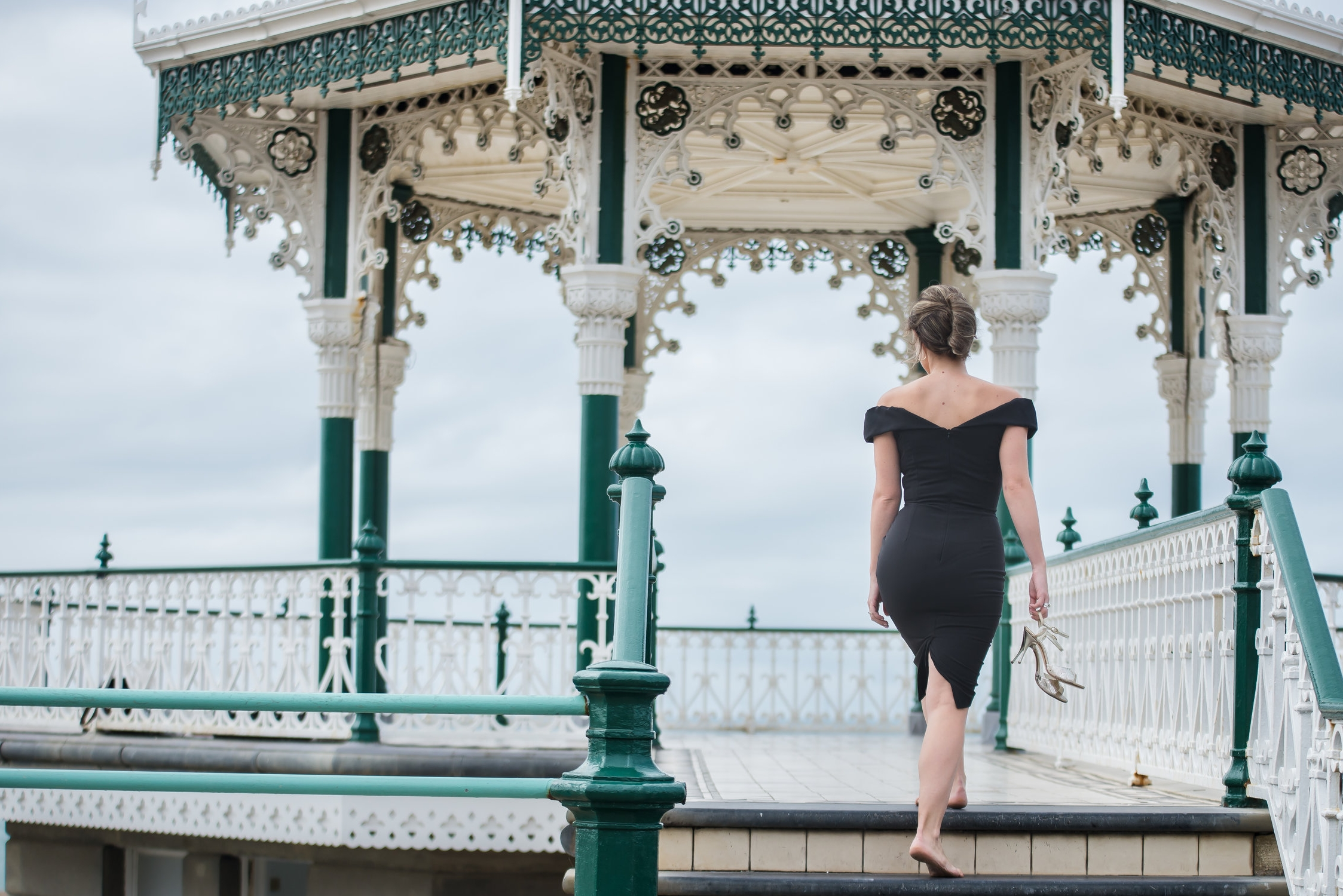 Stefania in the bandstand