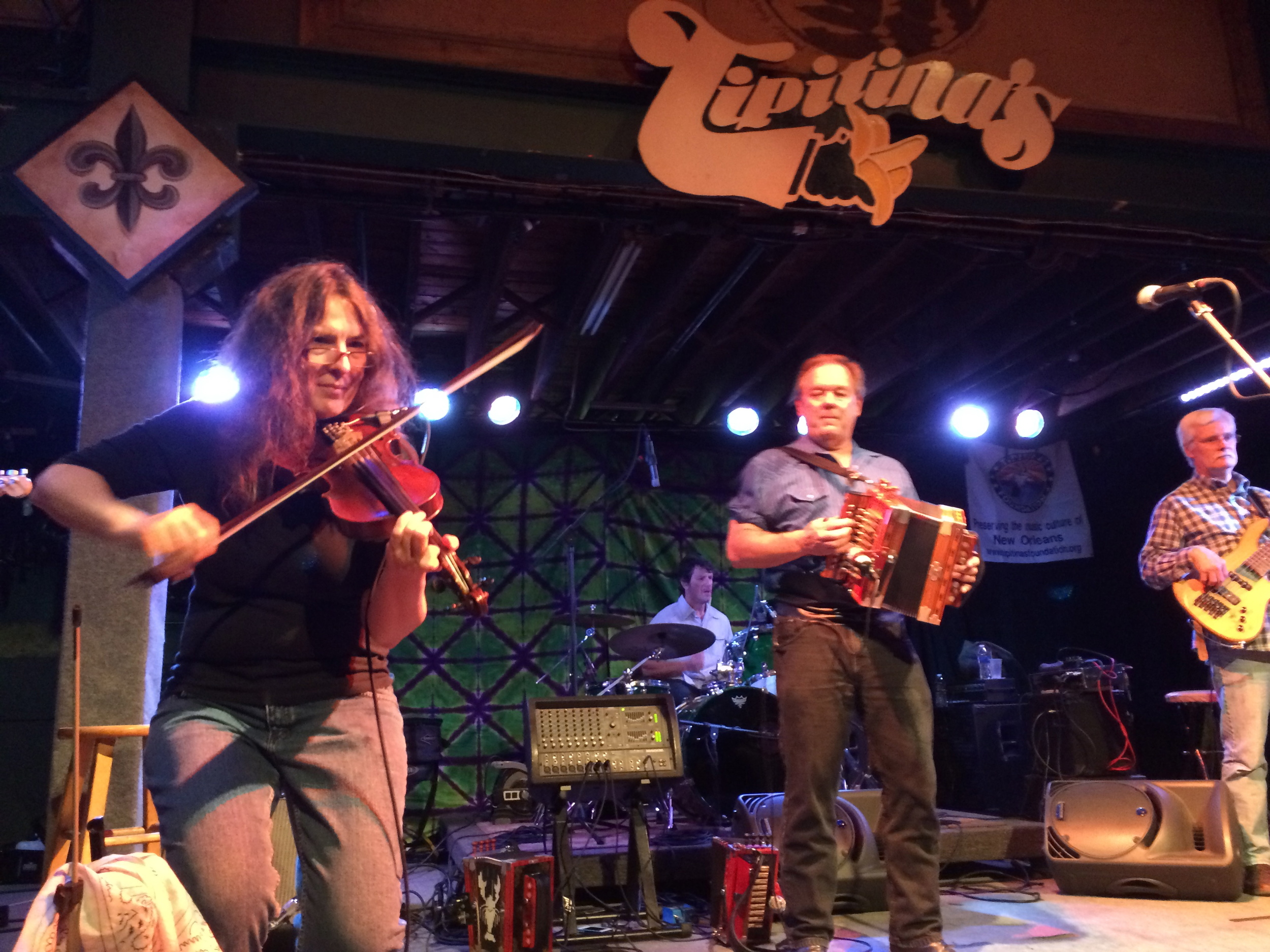 A great night of music with Gina Forsyth, Bruce Daigrepont and friends at Tipitina's in New Orleans!