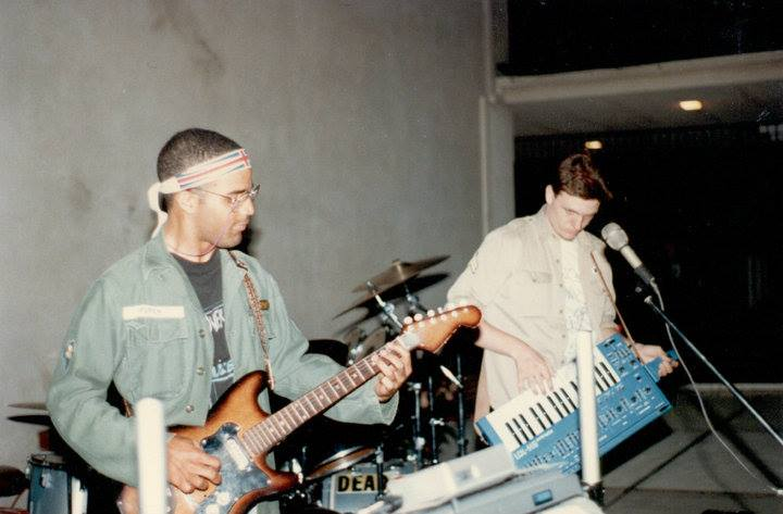 Performing with Crazed Bunnyz in 1986