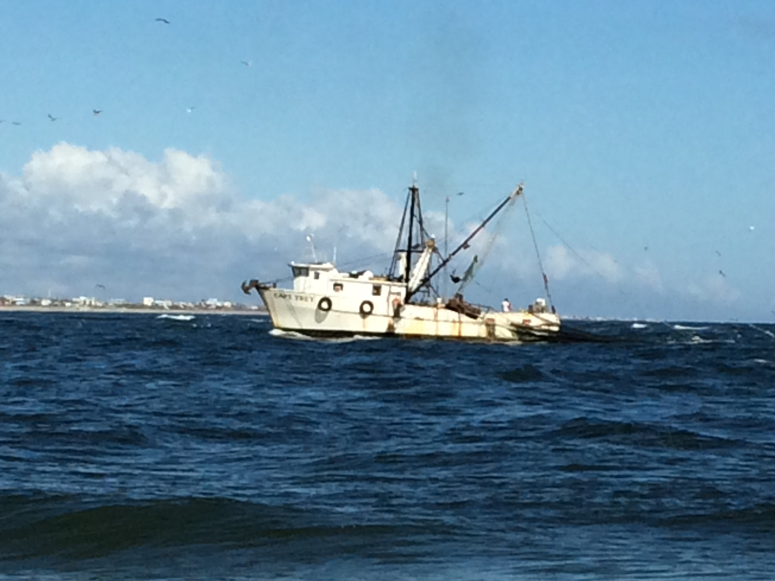 Fishing off Conch Island
